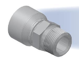 01 - koncovka AGN středotlaká přímá pevná s objímkou