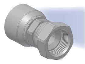 06 - koncovka DKJ středotlaká přímá s objímkou a s maticí