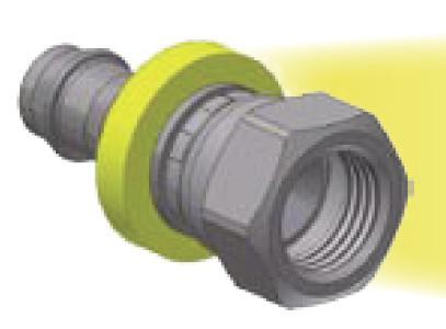 08 - Push-Lok koncovka AGS nástrčná přímá s maticí