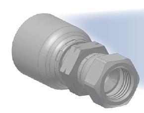 08 - koncovka středotlaká přímá pevná s objímkou a s maticí