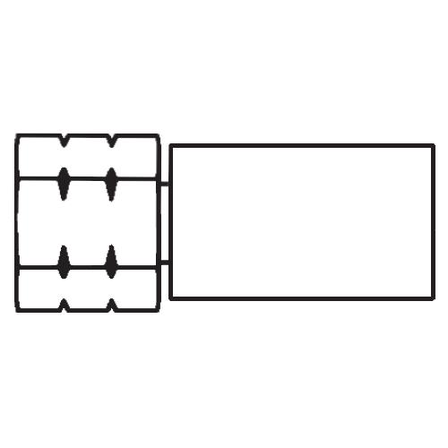 106PX - POLYFLEX koncovka s objímkou DKJ s maticí