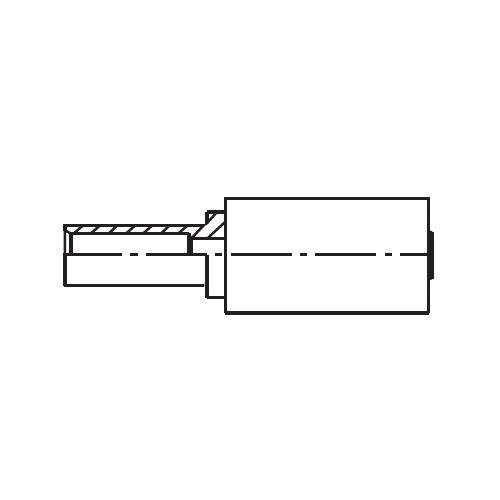 11DPX - koncovka s objímkou BEL na trubku pro PLOYFLEX