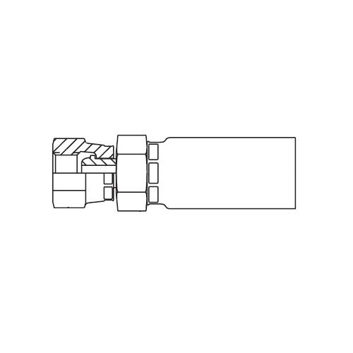 19258 - POLYFLEX koncovka přímá s objímkou DKOR s maticí