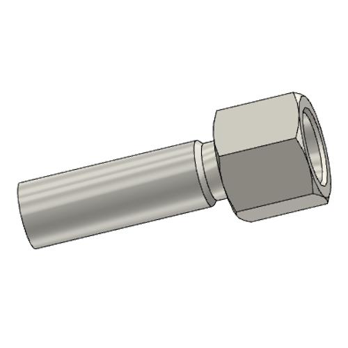 192EX - POLYFLEX koncovka přímá s objímkou DKR s maticí