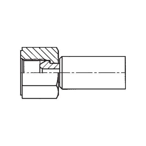 192NX - POLYFLEX koncovka přímá s objímkou DKR s maticí