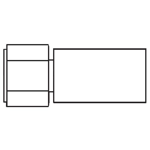 192PX - POLYFLEX koncovka přímá s objímkou DKR s maticí