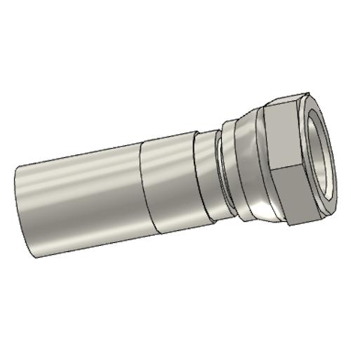 192YX - POLYFLEX koncovka přímá s objímkou DKR s maticí