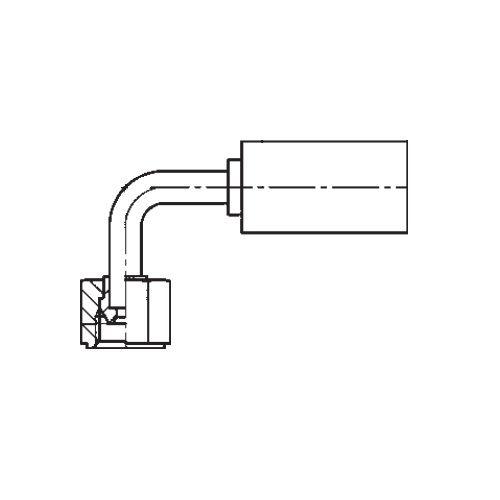 1B2YX - POLYFLEX koncovka 90°úhlová s objímkou DKR s maticí