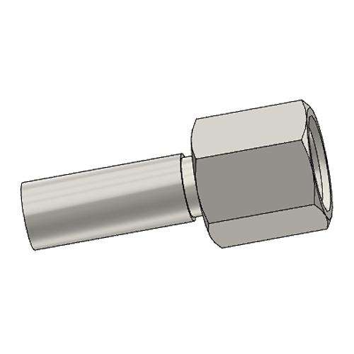 1C3PX - POLYFLEX koncovka přímá s objímkou DKOL s maticí