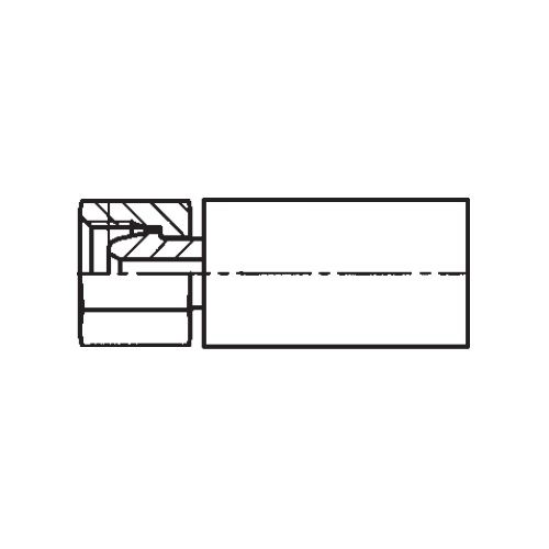 1C3YX - POLYFLEX koncovka přímá s objímkou DKOL s maticí