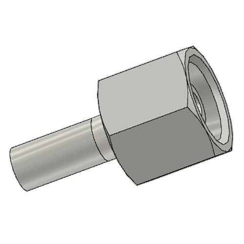 1C9EX - POLYFLEX koncovka přímá s objímkou DKOS s maticí