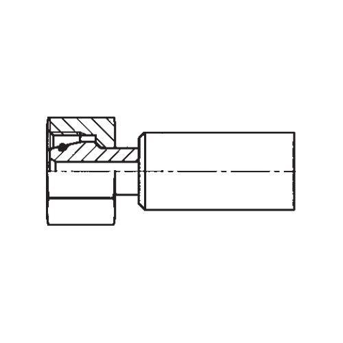 1C9NX - POLYFLEX koncovka přímá s objímkou DKOS s maticí