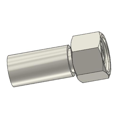1C9PX - POLYFLEX koncovka přímá s objímkou DKOS s maticí
