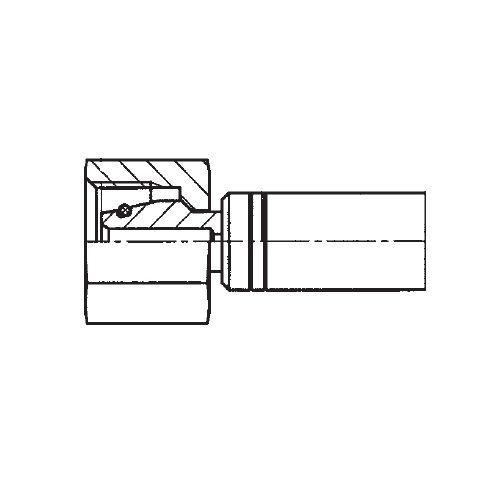1CAEX - POLYFLEX koncovka přímá s objímkou DKOL s maticí