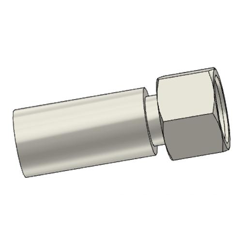 1CAPX - POLYFLEX koncovka přímá s objímkou DKOL s maticí