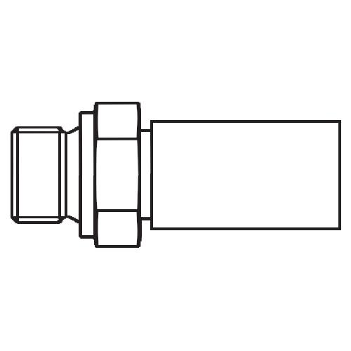 1D9PX - koncovka přímá s objímkou AGR pro hadice POLYFLEX