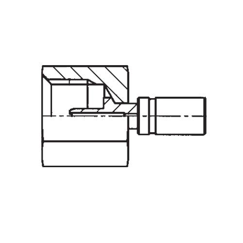 1YREX - konektor s objímkou pro hadice POLYFLEX