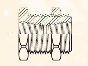 207ACBH - pneumatická spojka mosazná panelová