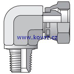 2107 - hydraulický 90°úhlový adaptér redukovaný