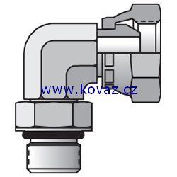 2507 - hydraulický 90°úhlový adaptér redukovaný