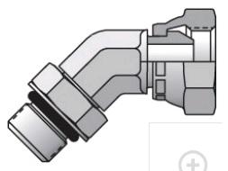 3507 - hydraulický 45°úhlový adaptér redukovaný