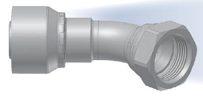 37 - koncovka DKJ středotlaká 45°úhlová s objímkou a s maticí