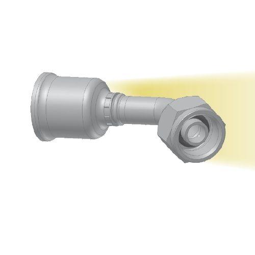 5H - koncovka nízkotlaká na trubku 45°úhlová s objímkou