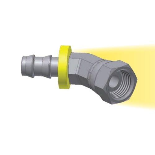 6C - Push-Lok koncovka DKL 45° nástrčná s maticí