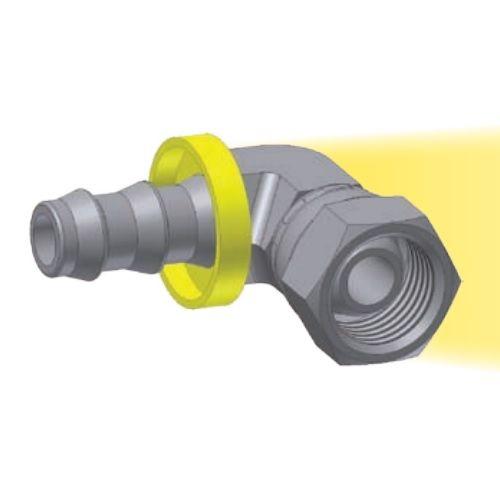 9C - Push-Lok koncovka 90° nástrčná s maticí