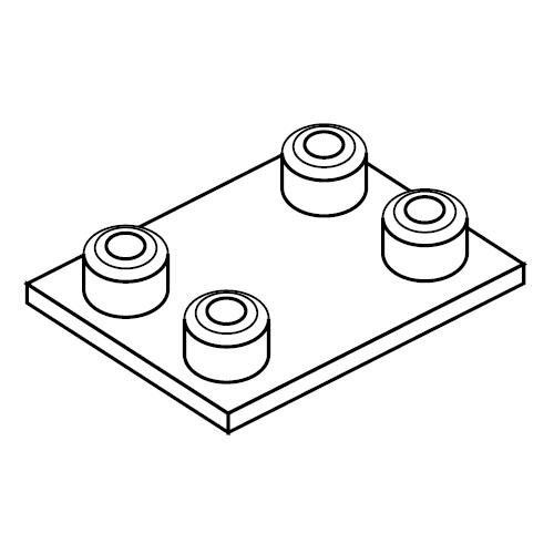 APDC - přivařovací dvojitá destička příchytek série C