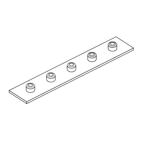 APRB - přivařovací dlouhá destička pro příchyty trubek série B