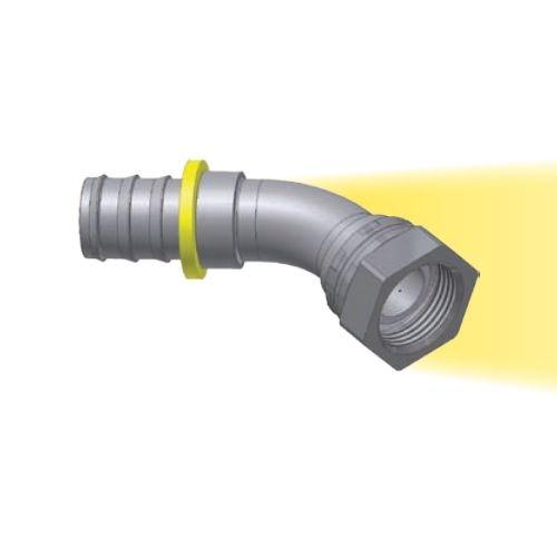 B1 - Push-Lok koncovka DKR 45° nástrčná s maticí