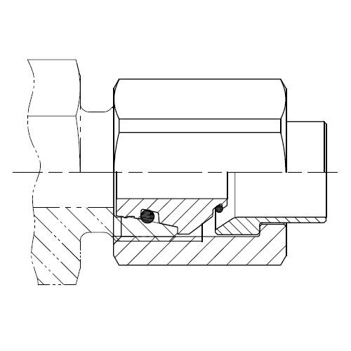 BAK - komplet adaptér 24° na 37° DIN 3949