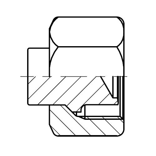 BUZM - hydraulická nerezová zátka šroubení s maticí pro kužel