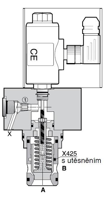C18DEC - hydraulický 2cestný vestavný sedadlový ventil