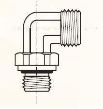 C4UCOB - pneumatický 90°úhlový adaptér pro auta mosazný