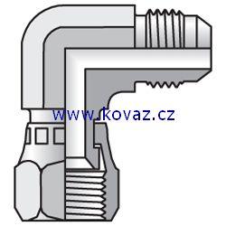 C6MX - hydraulická 90°úhlová spojka s maticí Triple-Lok 37°