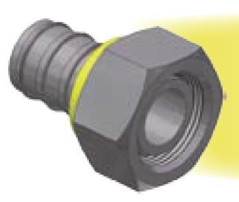 CA -  Push-Lok koncovka DKOL nástrčná přímá s maticí