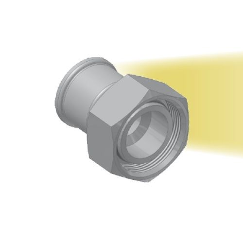 CA - koncovka DKOL nízkotlaká s objímkou a maticí