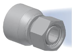 CA - koncovka DKOL středotlaká přímá s objímkou a s maticí