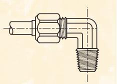 CBM - nástrčná 90°úhlová dvoudílná spojka mosazná Metrulok