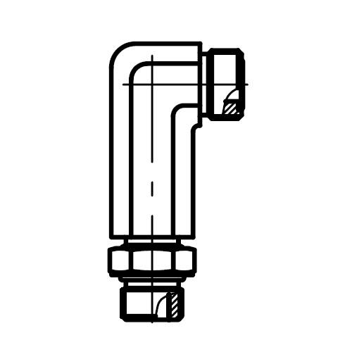 CC5OLO - hydraulická 90°úhlová dlouhá spojka