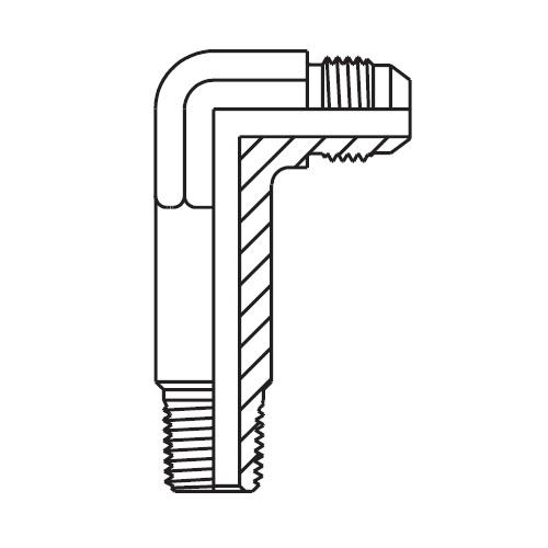 CCCTX - hydraulická dlouhá 90°úhlová spojka Triple-Lok® 37°
