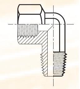 CD43 - pneumatická 90°úhlová spojka mosazná