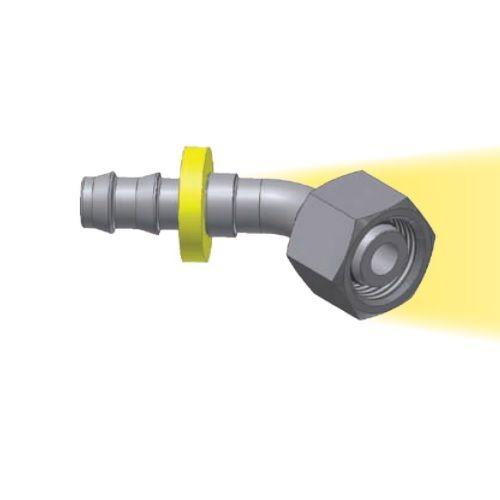 CE - Push-Lok koncovka DKOL 45° nástrčná s maticí