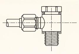 COR4BM - pneumatické nástrčné banjo mosazné Metrulok