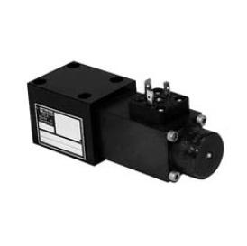 Sedlový hydraulický rozvaděč elektricky ovládaný