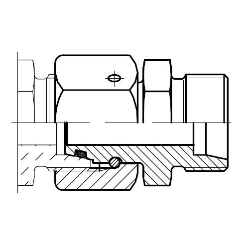 DA - hydraulická prodlužovací spojka šroubení