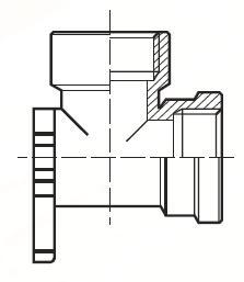 DD44BKTBL - pneumatický 90°úhlový adaptér na přírubu