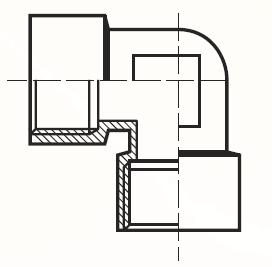 DD44BL - pneumatický 90°úhlový adaptér